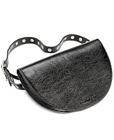 Calvin Klein Crinkle Patent Leather Belt Bag
