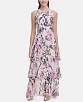 5eb7694ab Tommy Hilfiger Printed Chiffon Tier Maxi Dress