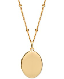 "Sarah Chloe Locket Pendant Necklace, 16"" + 2"" extender"