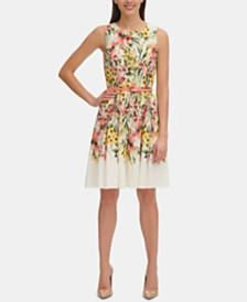 Tommy Hilfiger Petite Floral Eyelet Fit & Flare Dress