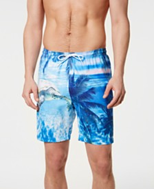 "Trunks Surf & Swim Co. Men's Photo Reel Turtle Graphic 6"" Swim Trunks, Created for Macy's"