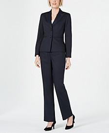 Petite Pinstriped Pants Suit