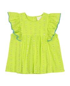 Masala Baby Girls Ruffle Top Dots