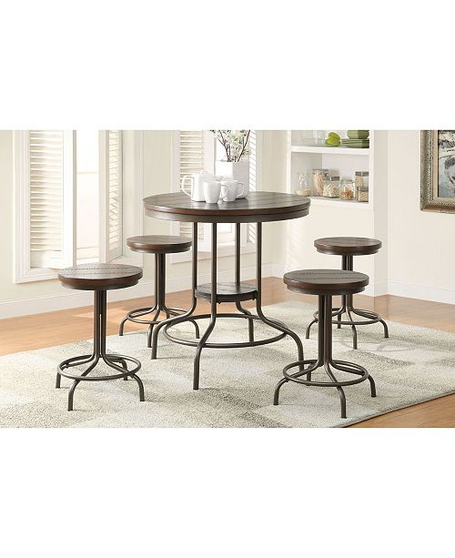 Acme Furniture Burney 5-Piece Counter Height Set
