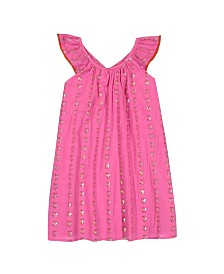Masala Baby Girls Butterfly Dress Hearts