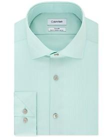 Calvin Klein Men's STEEL Slim-Fit Non-Iron Stretch Performance Dress Shirt