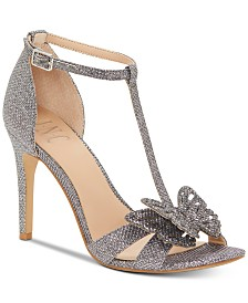I.N.C. Rainor Butterfly T-Strap Evening Sandals, Created for Macys