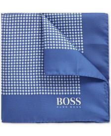 BOSS Men's Italian-Made Patterned Silk Pocket Square