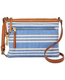 Fossil Fiona Striped Crossbody