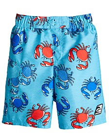Laguna Little Boys Crab-Print Swim Trunks