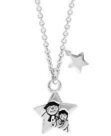 Snowman Stars Pendant Necklace