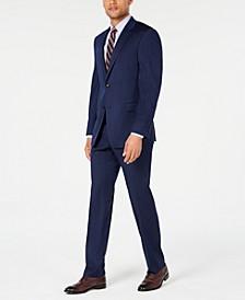 Men's Modern-Fit THFlex Stretch Navy Pinstripe Suit