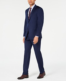 Tommy Hilfiger Men's Modern-Fit THFlex Stretch Navy Pinstripe Suit