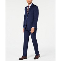 Tommy Hilfiger Mens Modern-Fit Navy Pinstripe Suit