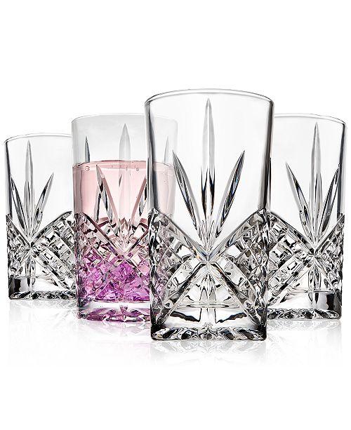 Godinger Dublin Acrylic Set of 4 Highball Glasses