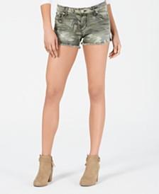 STS Blue Aubrey Camouflage-Print Cutoff Denim Shorts