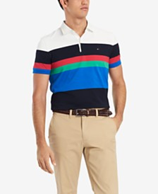 Tommy Hilfiger Men's Colorblocked Rugby Polo, Created for Macy's