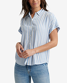Lucky Brand Striped Button-Up Top