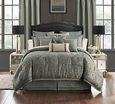 Waterford Dimitrios Charcoal Reversible California King 4 Piece Comforter Set