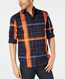 Alfani Men's Craig Plaid Shirt, Created for Macy's
