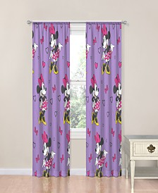 "Disney Minnie Mouse Purple Love 63"" Drapes"