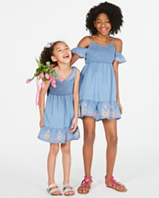 Epic Threads Big & Little Girls Embroidered Dress, Created for Macy's