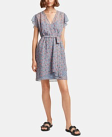 French Connection Celestia Printed Faux-Wrap Dress