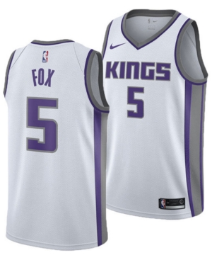 Nike Men's DeAaron Fox Sacramento Kings Association Swingman Jersey