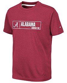 Colosseum Big Boys Alabama Crimson Tide Boxed Logo Polyester T-Shirt