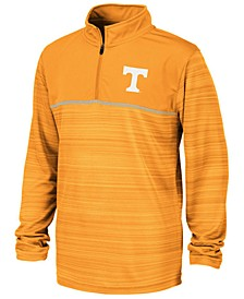 Big Boys Tennessee Volunteers Striped Mesh Quarter-Zip Pullover