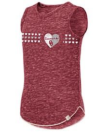 Big Girls Oklahoma Sooners Distressed Heart Tank Top