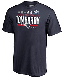 Big Boys Tom Brady New England Patriots Multi Champion T-Shirt
