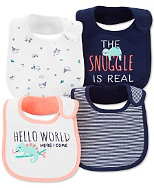 Carter's Baby Boys 4-Pack Printed Bibs