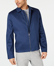 Alfani Men's Harrington Linen Blend Jacket, Created for Macy's