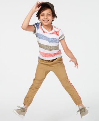 Little Boys Sand Tape Jogger Pants, Created for Macy's