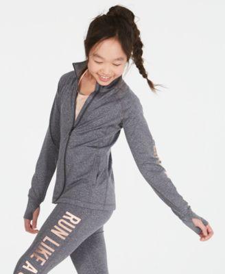 Big Girls Run Girl Zip-Up Jacket, Created for Macy's