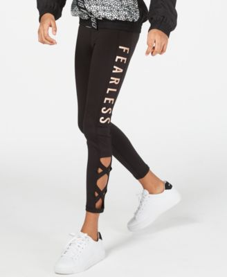 Big Girls Fearless Caged Leggings, Created for Macy's