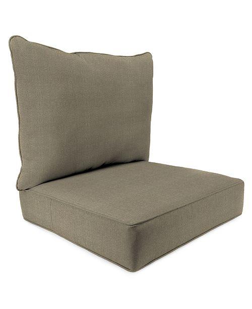 Jordan Manufacturing Outdoor 2 Piece Deep Seat Chair Cushion 1 Pack
