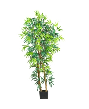 Nearly Natural 5' Curved Faux Silk Tree