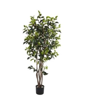 Nearly Natural 5' Ficus Bushy Faux Silk Tree