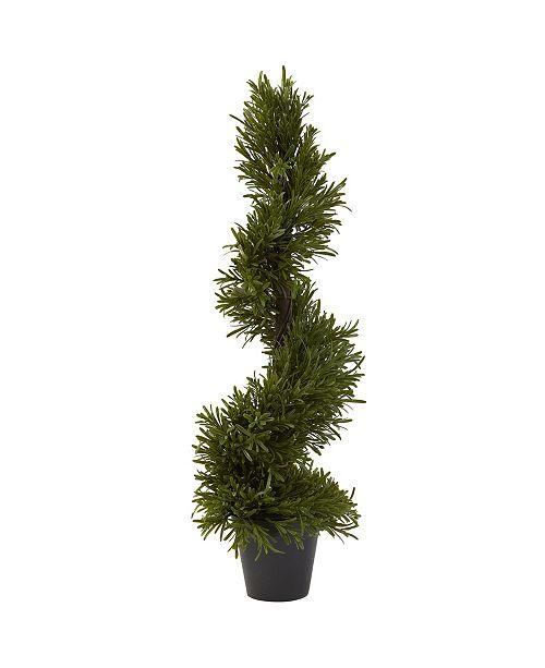 "Nearly Natural 30"" Rosemary Spiral Tree"