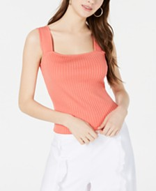 XOXO Juniors' Striped Ribbed Crop Top
