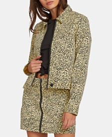 Volcom Juniors' Animal-Print Jacket