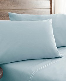 Queen 300 Thread Count Prewashed Cotton Percale Sheet Sets