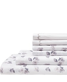 Spring Meadow Print/ Embroidered Full Sheet Sets