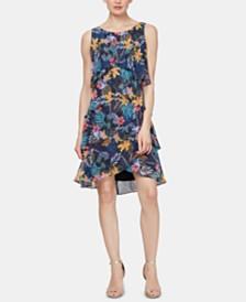 SL Fashions Sleeveless Tiered Shift Dress
