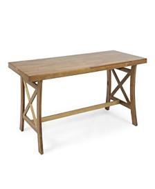 Tuomo Traditional Acacia Wood Desk, Quick Ship