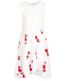 GUESS Big Girls Lace Floral-Print Dress, Created for Macy's
