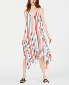 Bar III Striped Handkerchief-Hem Dress, Created for Macy's