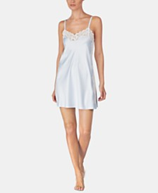 Lauren Ralph Lauren Flower-Lace Trim Chemise Nightgown
